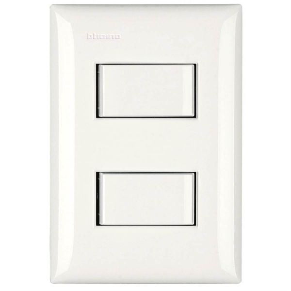 Conjunto 4x2 2 Interruptor Simples 10a 250v M5a60 Thesi  Branco