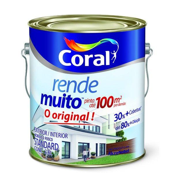 Tinta Rende Muito 3,6 Litros Concreto Coral