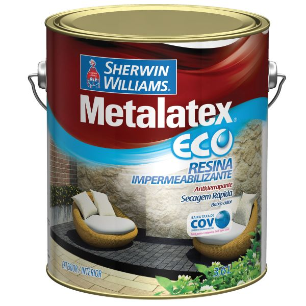 Resina Metalatex Impermeabilizante Eco 3.6L Sherwin Willians Incolor