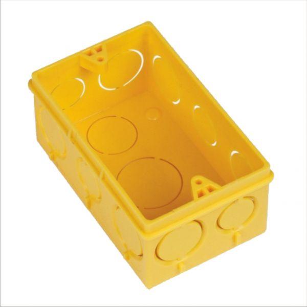 Caixa De Luz Eletro Flex 4 x 2 Amarela Amanco