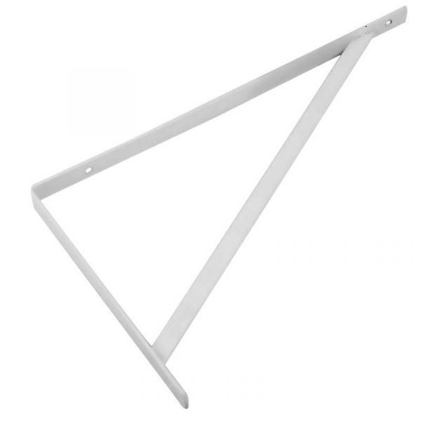 Suporte Prateleira Simples Zinc Branco 6166 Bemfixa