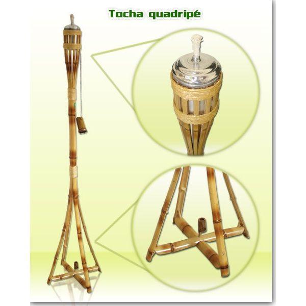 Tocha Bambu Quadripe Alumínio FC029 Fest Chama