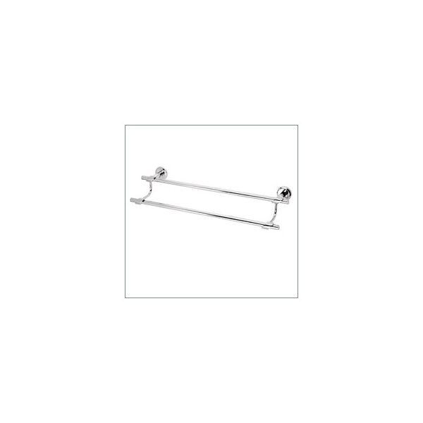 Porta-toalha Barra Dupla Quartzo 4900 C140 cromada Fani