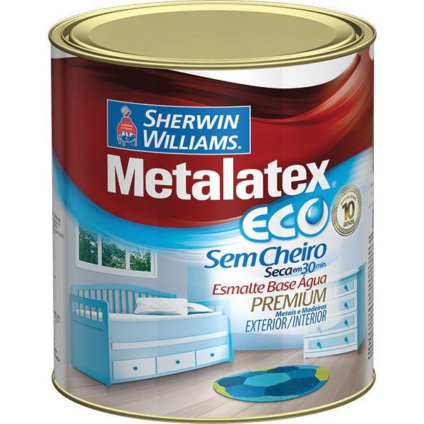 Esmalte Metalatex Eco Alto Brilho 0.9L Branco Sherwin Williams