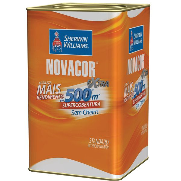 Novacor Acrílica Rende Mais Fosco 18l Sherwin Williams Bianco Sereno