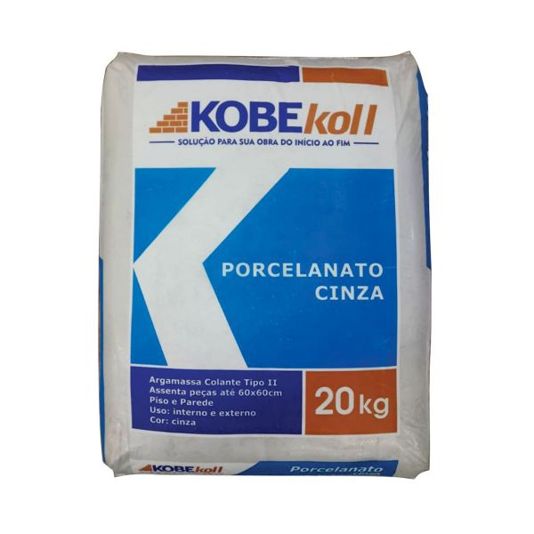 Argamassa ACII Porcelanato Interna/Externa 20KG Cinza Kobekoll