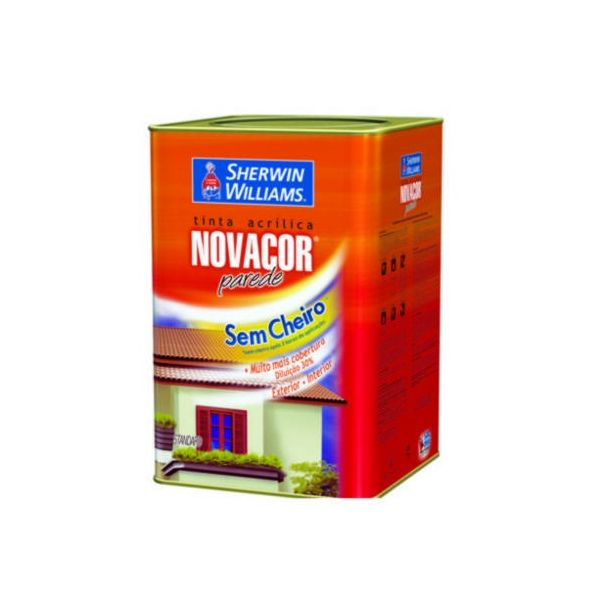 Tinta Novacor Acrílica Rende Mais Fosco 18 Litros Palha Sherwin
