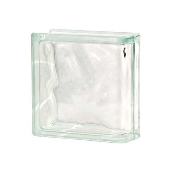 Tijolo de Vidro Terminal 19 x 19 x 8 Glass Incolor Kobe