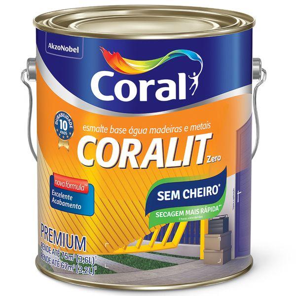 Tinta Coralit Zero Brilhante 3,6 Litros Preto Coral