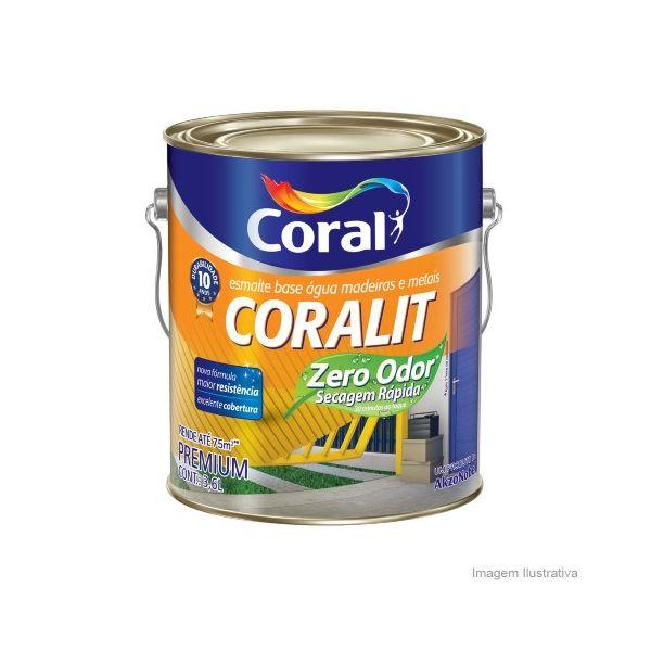 Tinta Coralit Zero Acetinado 3,6 Litros Branco Coral
