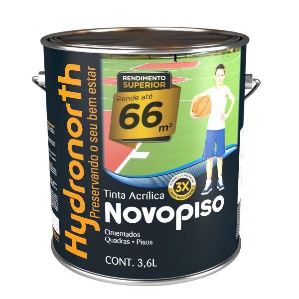 Tinta Novopiso 3,6 Litros Amarelo Demarcação  Hydronorth