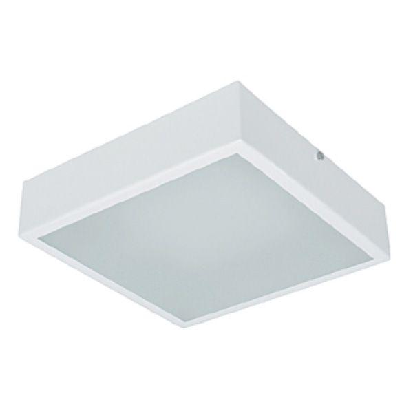Plafon Quadrado Mini 1404 1xE27 20W Branco Vr Lux