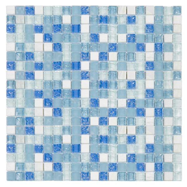 Pastilha 30x30 Stone Azul Gs300 Glass Mosaic
