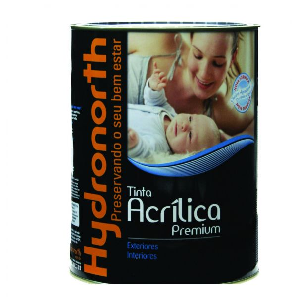 Acrílico Fosco Premium 18 Litros Branco Neve Hydronorth