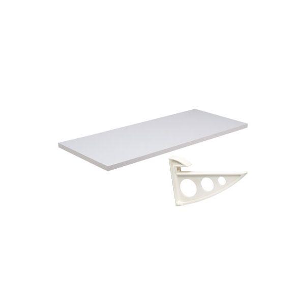 Prateleira Concept 25 x 100 cm com Suporte Branco Prat-K