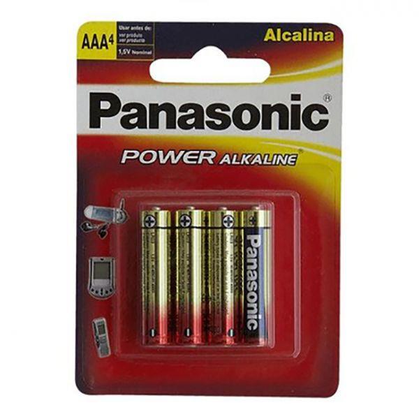 Pilha AAA  Alcalina Palito LR03XAB - 4B Com 4  Panasonic