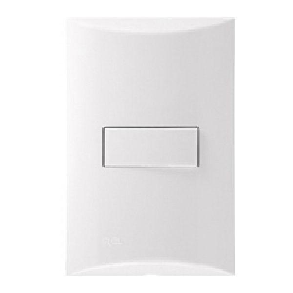 Conjunto Interruptor Simples Iriel 4 x 2 C/Pi 10A Brava Branco 250V