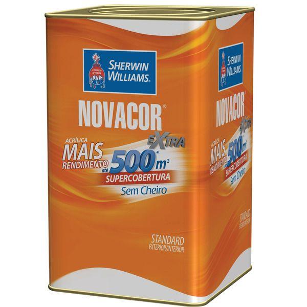Novacor Acrílica Rende Mais Fosco 18l Sherwin Williams Amarelo Canario