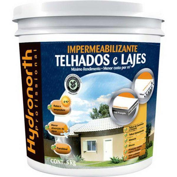 Impermeabilizante Telhas e Lajes  5kg  Cerâmica Hydronorth