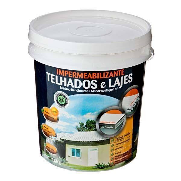 Impermeabilizante Hydronorth Telhados/Lajes Fosco 16kg Branco