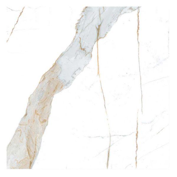 Porcelanato 90x90 Calacata Oro Lux Polido Retificado Biancogres
