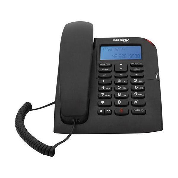 Telefone Identificador De Chamadas Com Viva Voz Tc60 Id 4000074  Preto