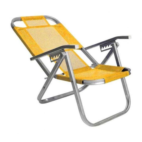 Cadeira Praia Ipanema Alta 397 Amarela Botafogo