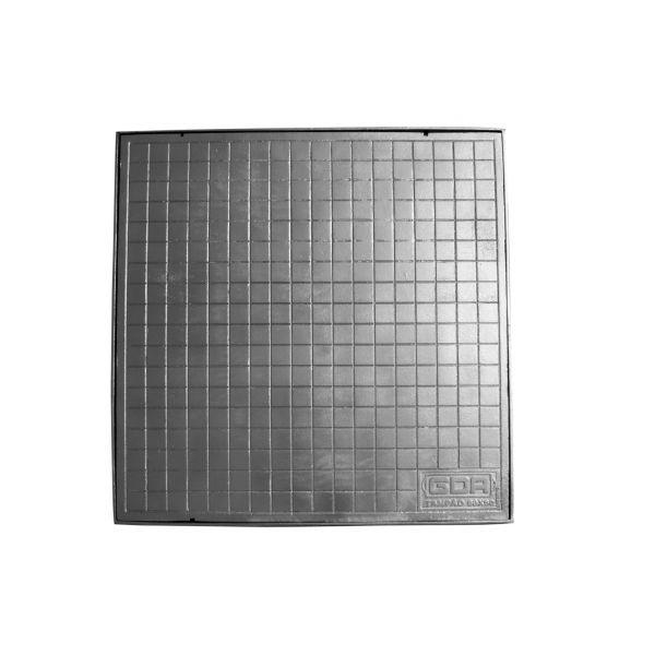 Tampão Simples Alumínio com Caixilho 60x60cm GDA