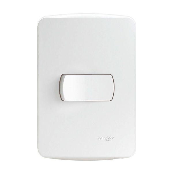 Conjunto 4x2 1Interruptor Simples 10A Miluz Branco Schneider