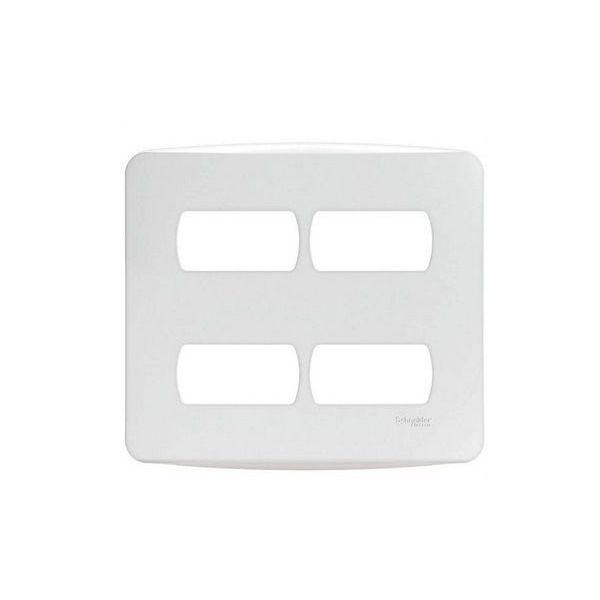 Placa 4x4 4postos Separados Miluz  Branco