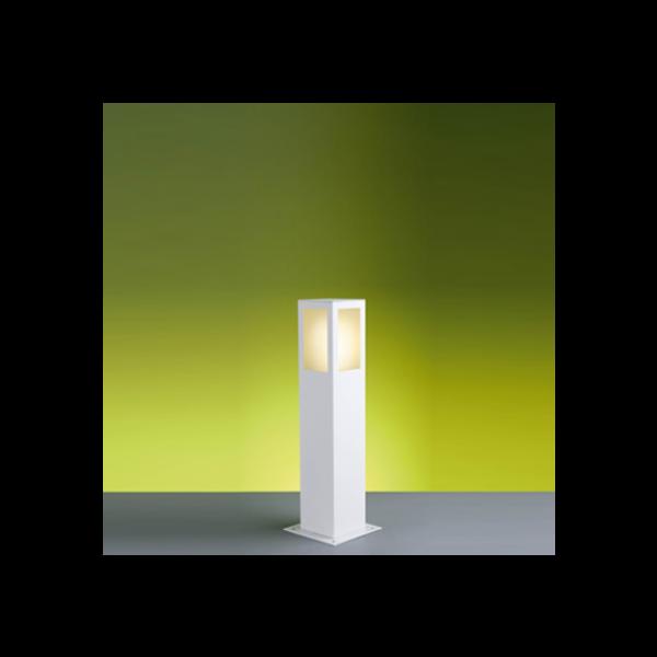 Poste Balizador Bolt 50Cm Branco Lustres Ideal