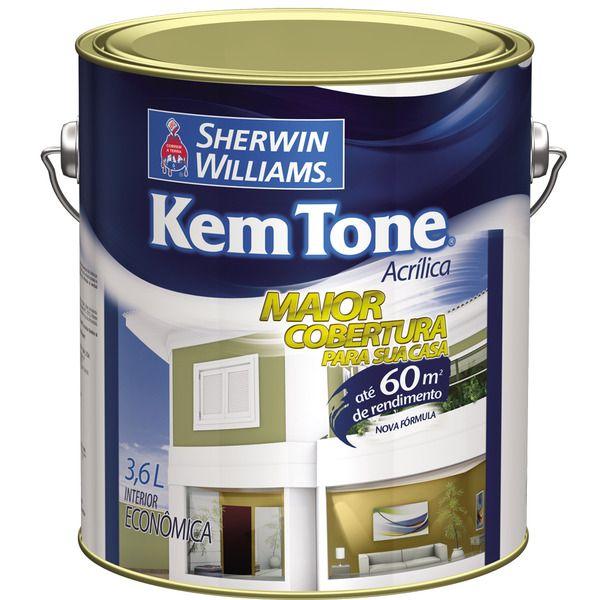 Tinta Kemtone Fosco 3.6L Sherwin Wiliams Branco Gelo