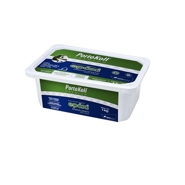 Rejunte Epóxi para Porcelanato 1Kg Cinza Portokoll