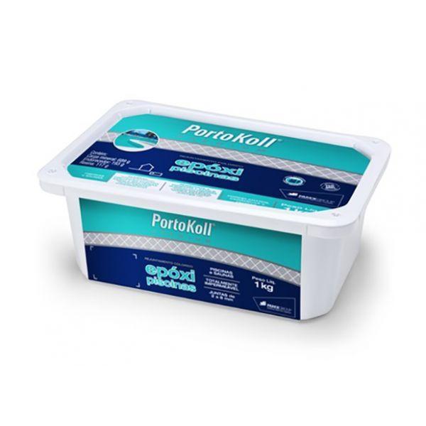 Rejunte Epóxi Piscina 1Kg Portokol Azul Royal