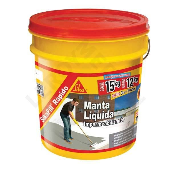 Sikafill Rapido Manta Líquido 15kg Sika  Concreto