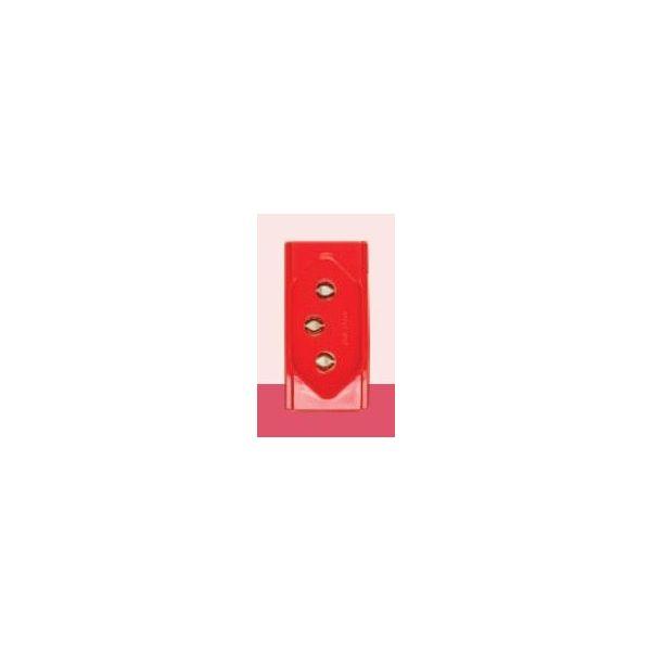 Módulo Tomada 2p+T 20a 573414 Brava  Vermelha
