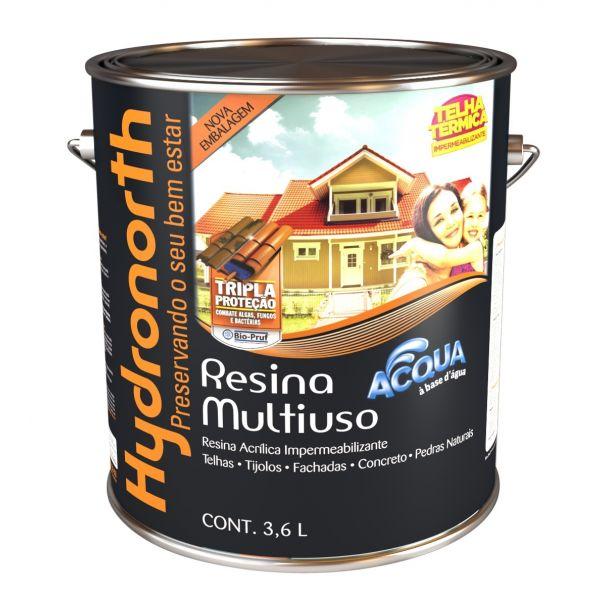 Resina Acqua 3,6 Litros Pérola  Hydronorth