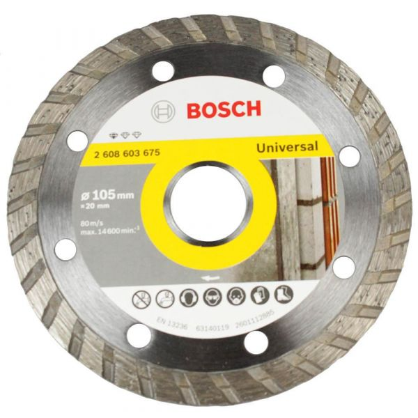 Disco Diamantado 105 mm Standard Turbo Bosch
