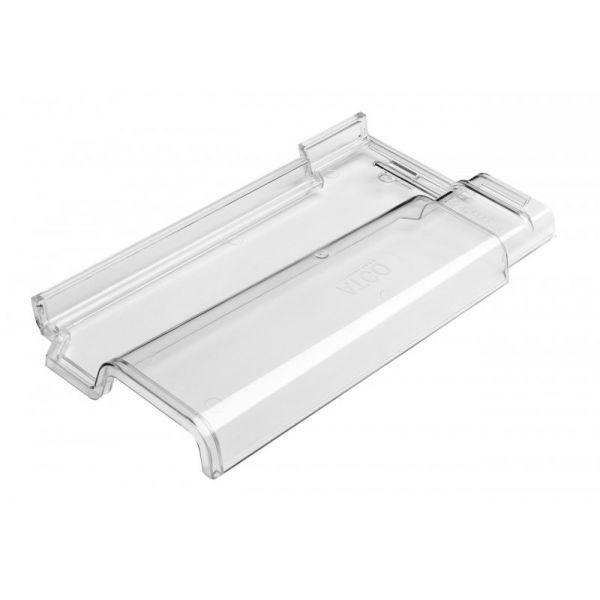 Telha Colonial Romana Pc 41X22cm Transparente Atco Plasticos
