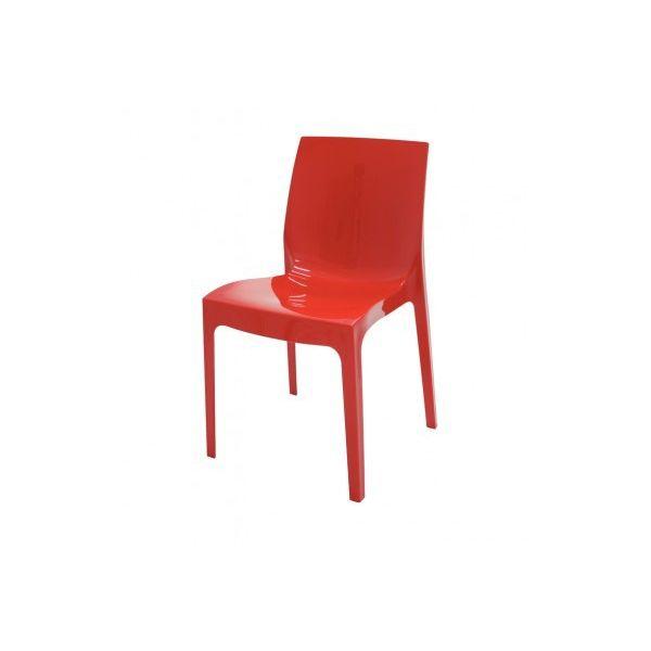 Cadeira Alice Encaixe Liso 92037/040 Vermelha Tramontina