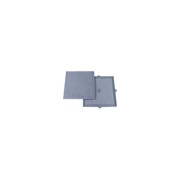 Tampao Dupla Vedacao Simples 60X60 Gda  Aluminio