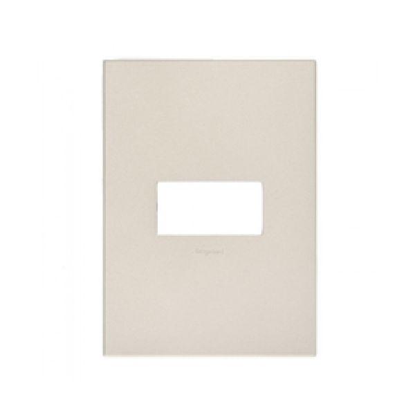 Placa 4x2 1 Posto Quad. 592661 Arteor  Aluminio