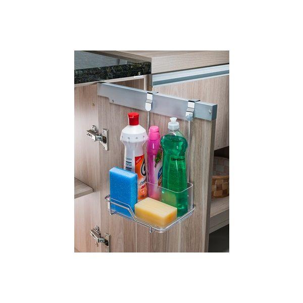 Suporte Para Sabonete/ Detergente/ Esponja Porta Armário  1134 Cromo