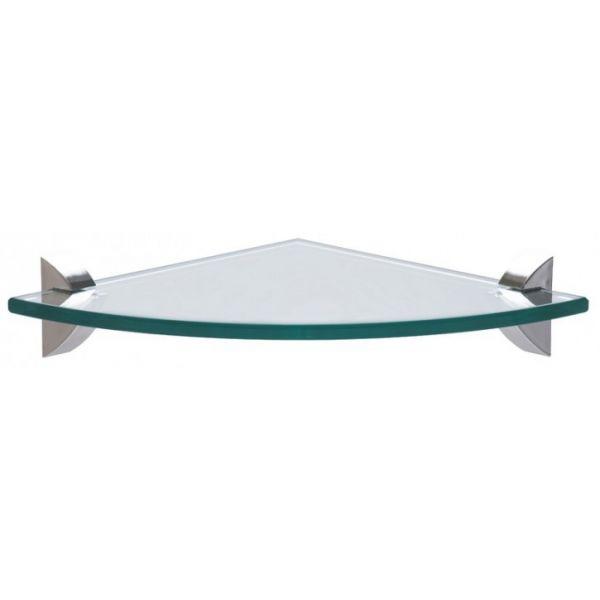 Prateleira Canto Vidro 30x30cm Glass Incolor  Tramontina