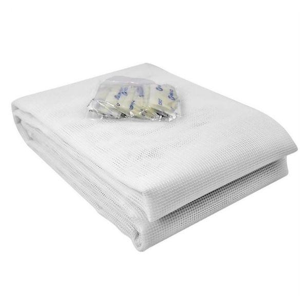 Tela Mosquiteiro Velcro 1,25X1,25  Branca