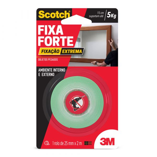 Fita Dupla Face Extreme 25mm X 2mt. 3m
