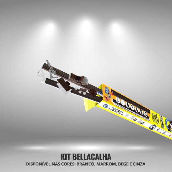 Kit 8m Bella Calha Marrom