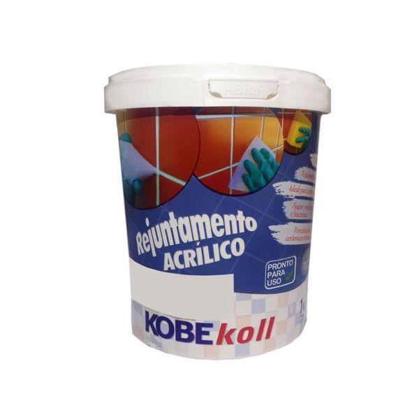 Rejunte Acrílico 1kg Kobekoll Cinza Kobe