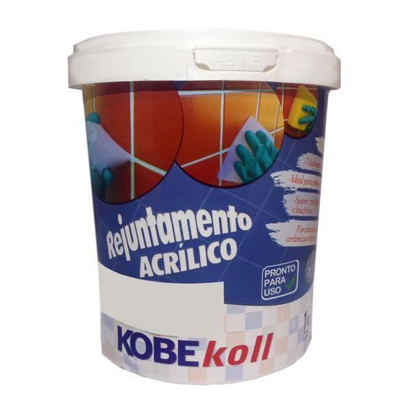 Rejunte Acrílico 1KG Kobekoll Cinza Platinado