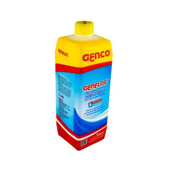 Genfloc Clarificante e Auxilia Filtração 1L  Vermelho/Amarelo Genco